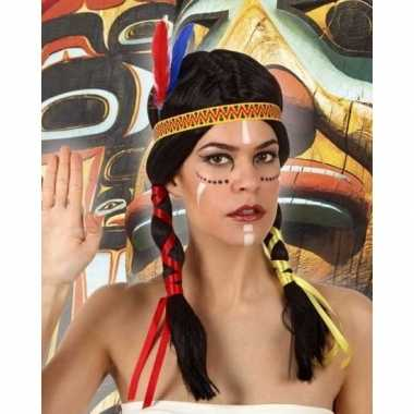 Originele indianen verkleed pruik staarten dames carnavalskleding