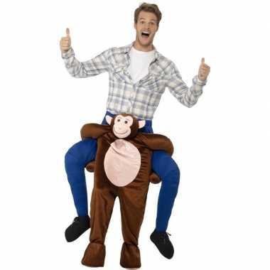 Originele instap dieren carnavalskleding carnavalskleding aap volwass