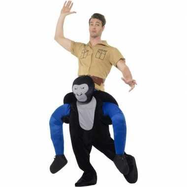 Originele instap dieren carnavalskleding carnavalskleding gorilla vol
