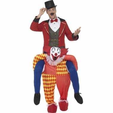 Originele instapcarnavalskleding circus clown volwassenen