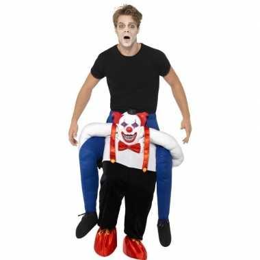 Originele instapcarnavalskleding enge horror clown volwassenen