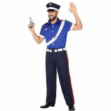 Originele italiaanse politie verkleed carnavalskleding/carnavalskledi