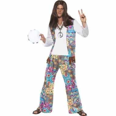 Originele jaren hippie carnavalskleding groovy heren