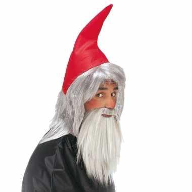 Originele kaboutermuts baard volwassenen carnavalskleding