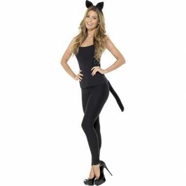 Originele katten/poezen verkleedset dames carnavalskleding