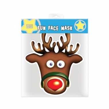 Originele kerst rudolph masker carnavalskleding