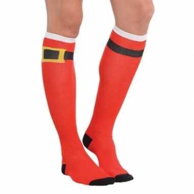 Originele kerstman sokken carnavalskleding