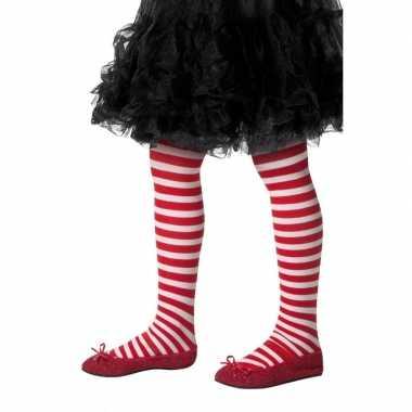 Originele kinderpanty rood wit gestreept carnavalskleding