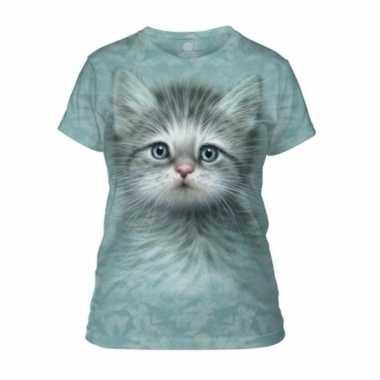 Originele kitten/poes t shirt vrouwen carnavalskleding