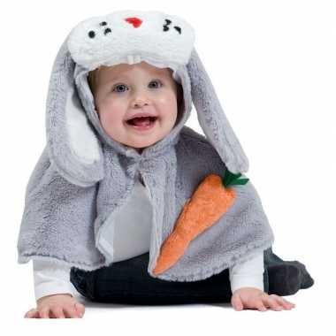 Originele konijn/haas verkleed cape baby/peuters carnavalskleding