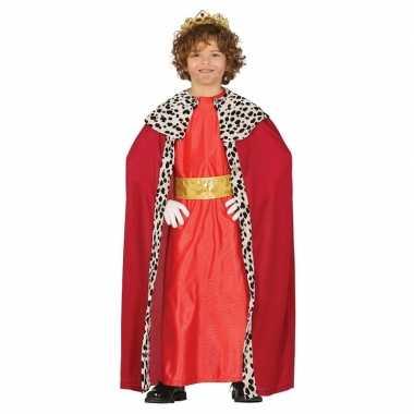 Originele koning mantel rood verkleedcarnavalskleding kinderen