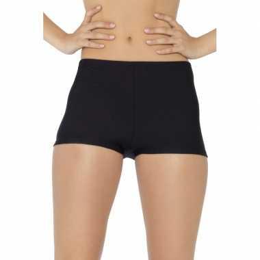 Originele korte broek dames zwart carnavalskleding