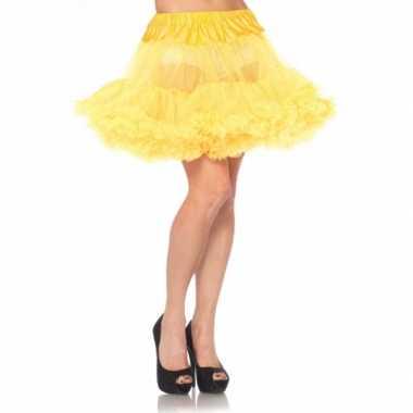 Originele korte gele s onderrok dames carnavalskleding