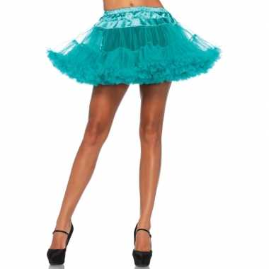Originele korte groene s onderrok dames carnavalskleding