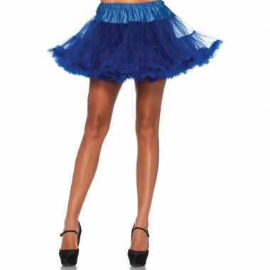 Originele korte kobalt s onderrok dames carnavalskleding