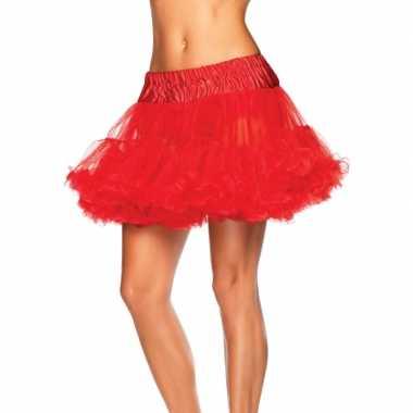 Originele korte rode s onderrok dames carnavalskleding