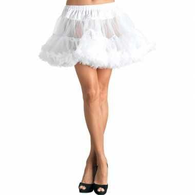 Originele korte witte s onderrok dames carnavalskleding