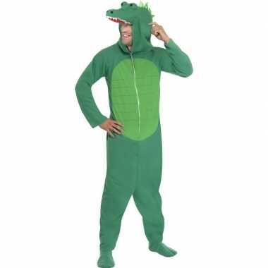 Originele krokodil onesie carnavalskleding volwassenen