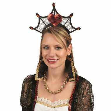 Originele kroon hartjes dames carnavalskleding