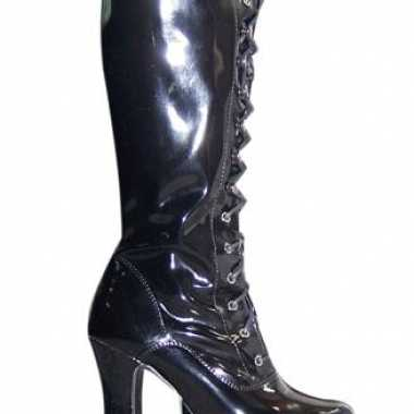Originele lak laarzen zwart volwassenen carnavalskleding