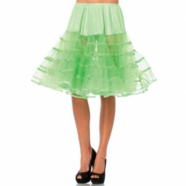 Originele lange neon groene s onderrok dames carnavalskleding