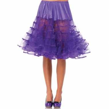 Originele lange paarse s onderrok dames carnavalskleding