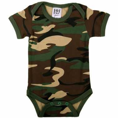 Originele leger camouflage baby romper carnavalskleding