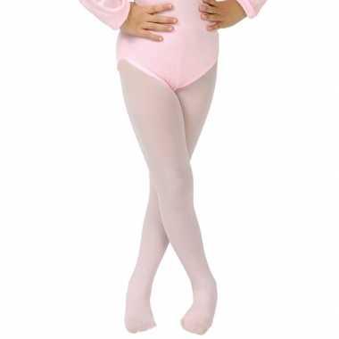 Originele lichtroze verkleed panty/maillot meisjes/kinderen carnavals