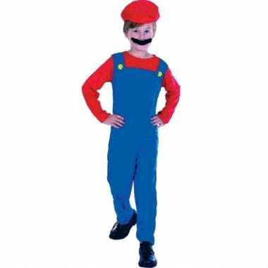 Originele loodgieter mario verkleed carnavalskleding kinderen