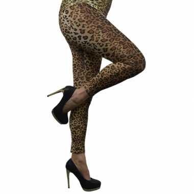 Originele luipaard legging dames carnavalskleding