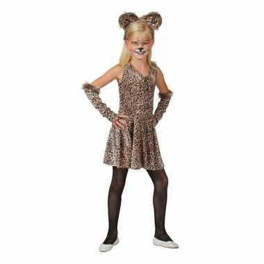 Originele luipaard verkleed carnavalskleding accessoires meisjes