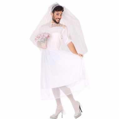 Originele man bruid fun verkleed carnavalskleding heren