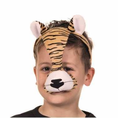 Originele masker tijger geluid carnavalskleding