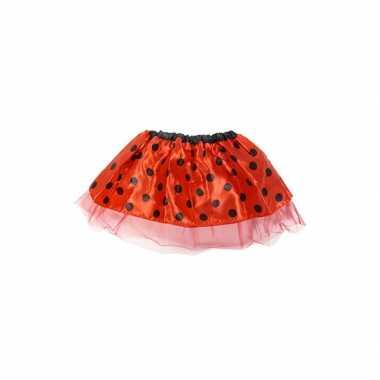 Originele meisjes verkleed rokje rood carnavalskleding