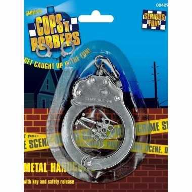 Originele metalen speelgoed handboeien sleutels carnavalskleding