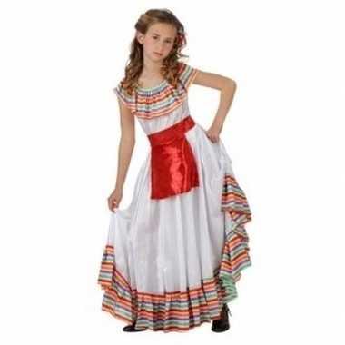 Originele mexicaans meisje carnavalskleding rood schortje