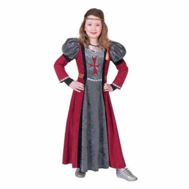 Originele middeleeuwse jonkvrouw verkleed carnavalskleding meisjes