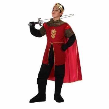Originele middeleeuwse koning/ridder henry verkleedset jongens carnav