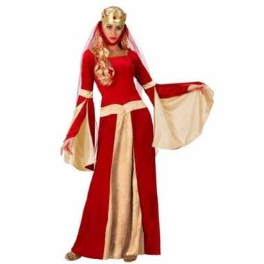 Originele middeleeuwse koningin verkleed carnavalskleding dames
