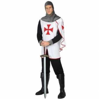 Originele middeleeuwse kruistocht ridder verkleed carnavalskleding he