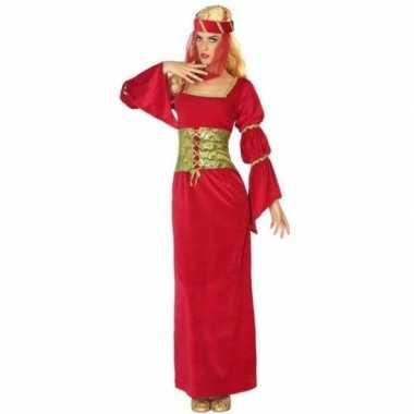 Originele middeleeuwse prinses/jonkvrouw verkleed carnavalskleding da