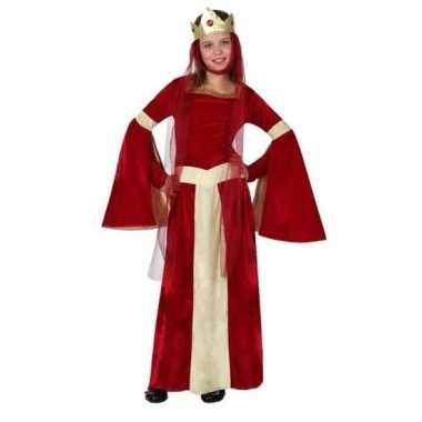 Originele middeleeuwse prinses/koningin eleanor meisjes carnavalskled