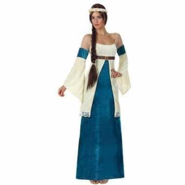 Originele middeleeuwse prinses verkleed carnavalskleding dames
