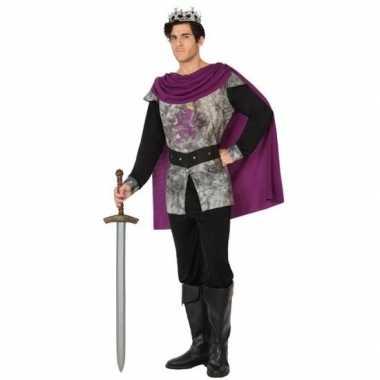 Originele middeleeuwse ridder/koning verkleed carnavalskleding heren