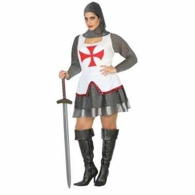 Originele middeleeuwse ridder verkleed carnavalskleding/carnavalskled