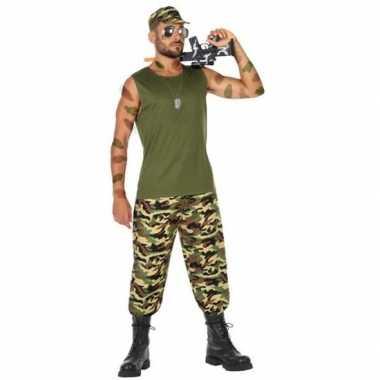 Originele militair/soldaat verkleed carnavalskleding/carnavalskleding