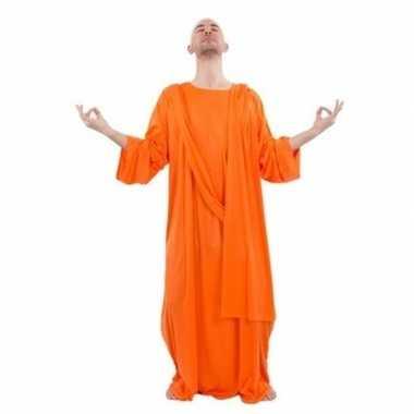 Originele monnik carnavalskleding oranje heren