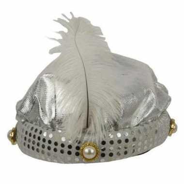 Originele  nacht hoed zilver carnavalskleding