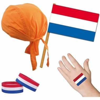 Originele nederland/holland thema verkleed set volwassenen carnavalsk