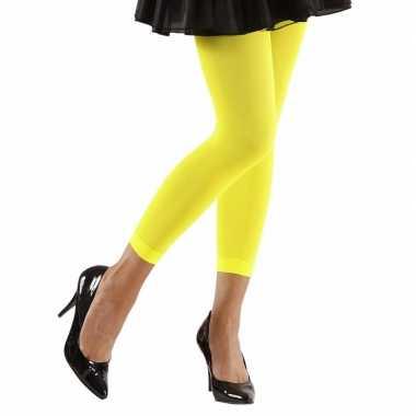 Originele neon gele legging dames carnavalskleding
